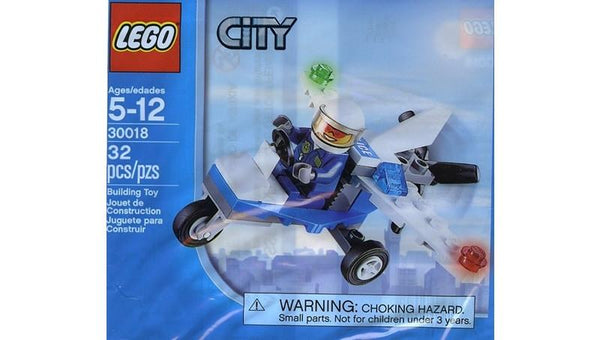 30018 City Police Plane Polybag - LEGO® Bricks World
