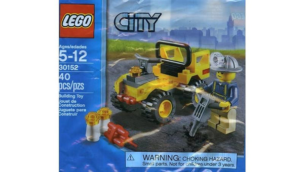 30152 City Mining Quad Polybag - LEGO® Bricks World