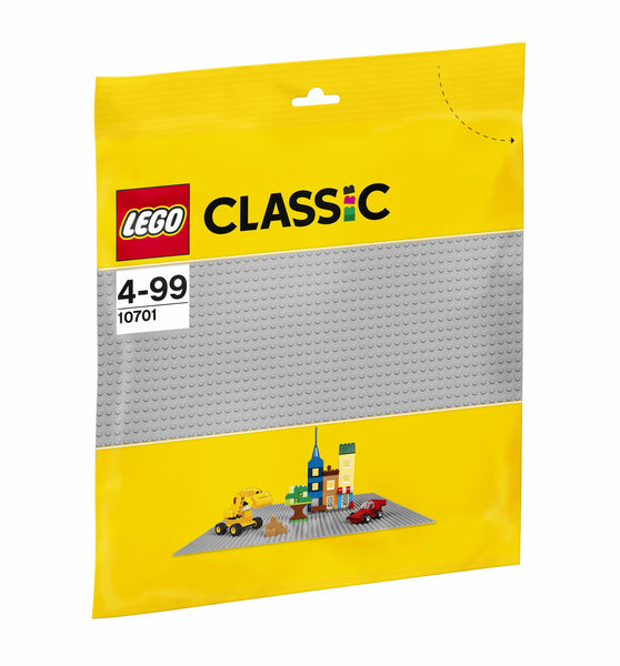 10701 Gray Baseplate - LEGO® Bricks World