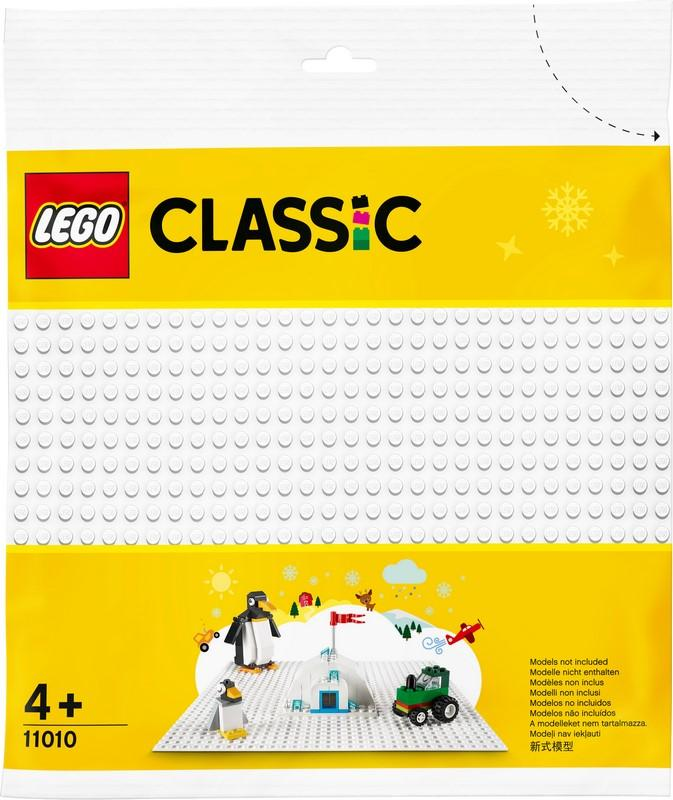 11010 White Baseplate - LEGO® Bricks World