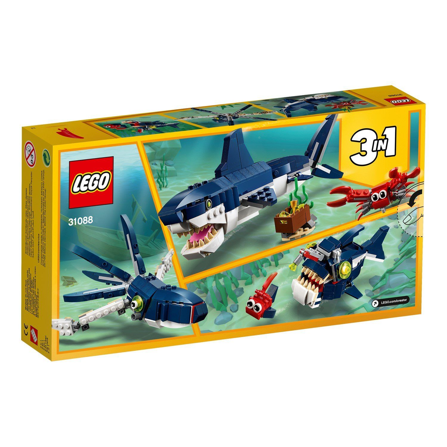 31088 Deep Sea Creatures - LEGO® Bricks World