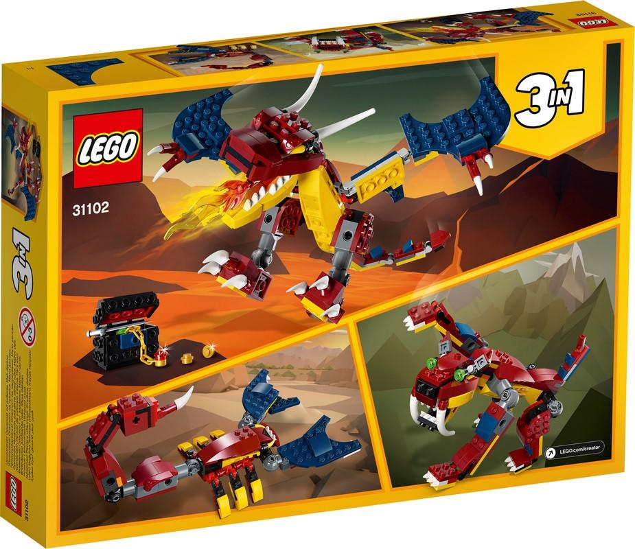 31102 Fire Dragon - LEGO® Bricks World