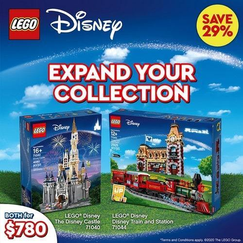 LEGO® Disney™ - 710401 Disney Castle & Train Bundle