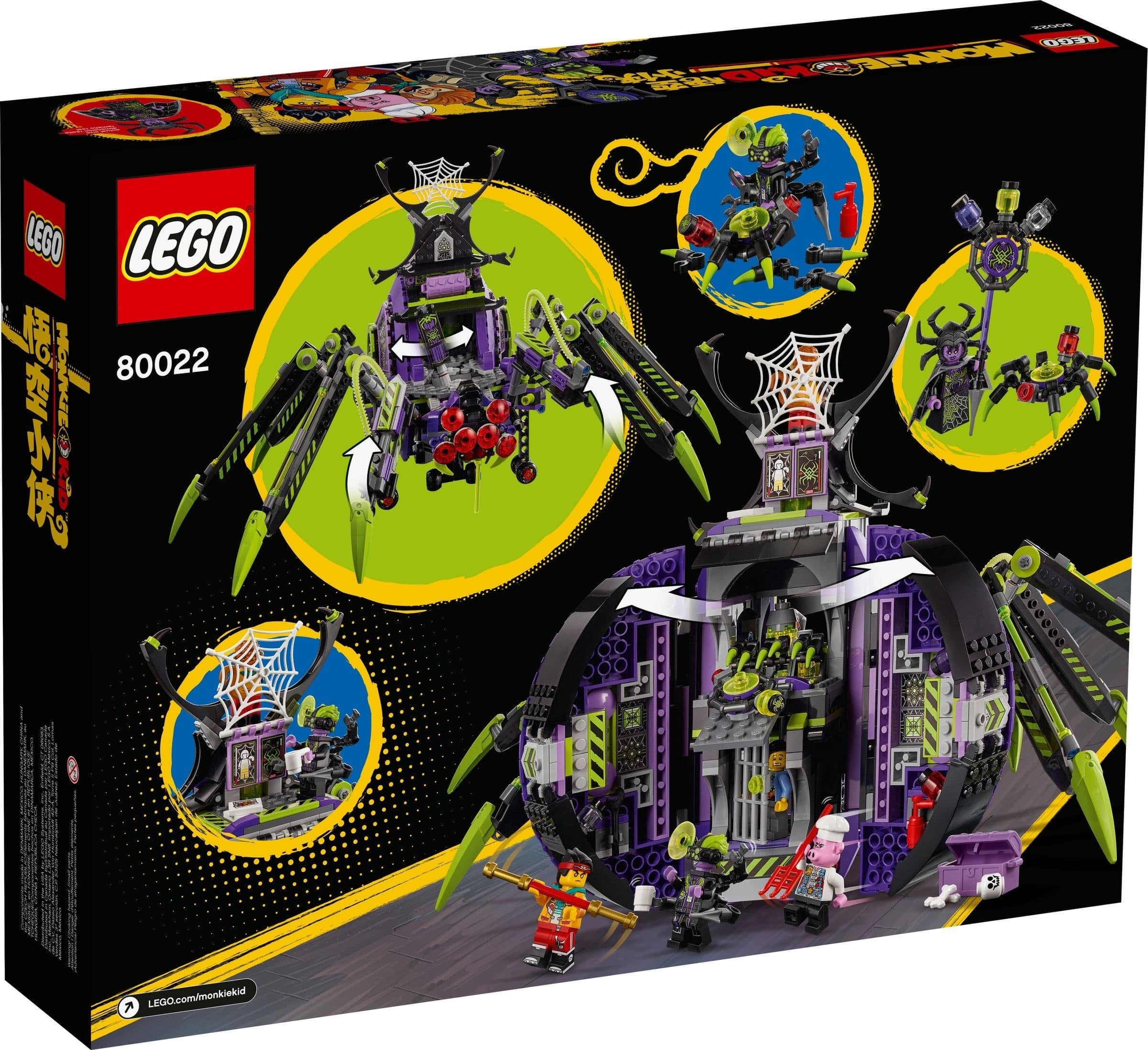 LEGO® Monkie Kid - 80022 Spider Queen's Arachnoid Base