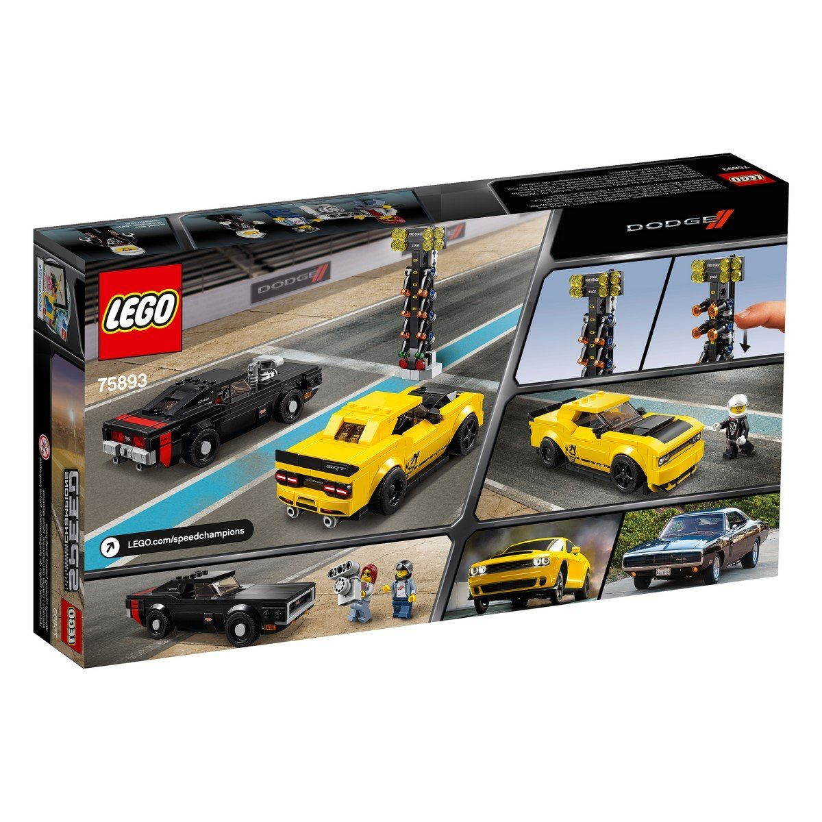 75893 2018 Dodge Challenger SRT Demon and 1970 Dodge Charger R/T - LEGO® Bricks World