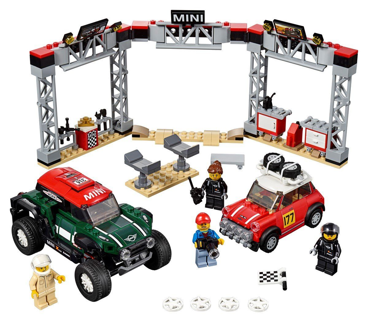 75894 1967 Mini Cooper S Rally and 2018 MINI John Cooper Works Buggy - LEGO® Bricks World