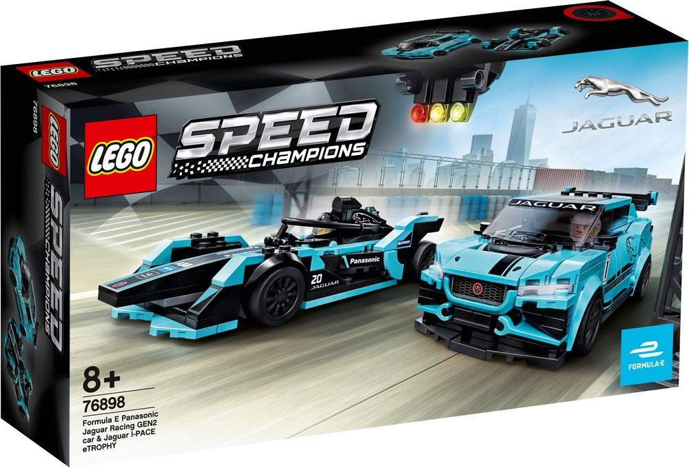76898 Formula E Panasonic Jaguar Racing GEN2 car & Jaguar I-PACE eTROPHY - LEGO® Bricks World