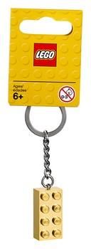 6143963 LEGO® Gold 2x4 Stud Key Chain - LEGO® Bricks World
