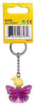853795 Butterfly Girl Key Chain - LEGO® Bricks World