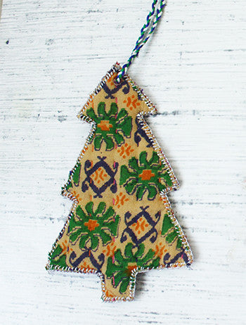 Sari Cloth Tree Ornament