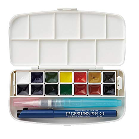 ZIG 14 transparent watercolor set