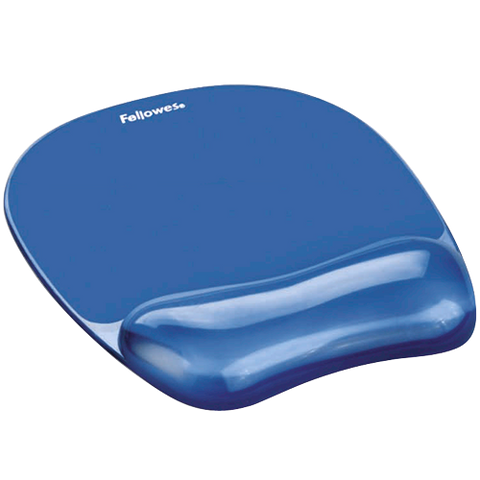 Fellowes Crystal Gel Mouse Pad / Wrist Rest