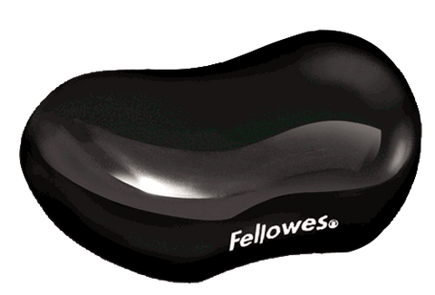 Fellowes Black Crystal Flex Rest