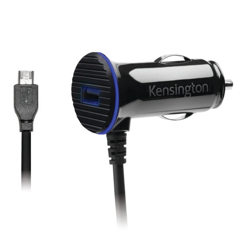 Kensington PowerBolt 3.4 Dual Fast Charger Car Charger with Micro USB Cable