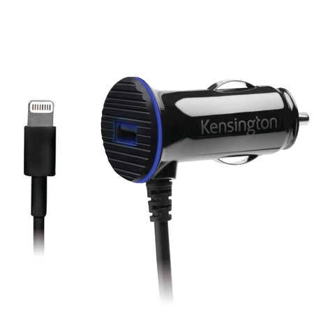 Kensington PowerBolt 3.4 Dual Fast Charger Car Charger with Lighting Cable