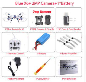 JJRC H16 YiZhan Tarantula X6 RC Quadcopter 6-Axis 2.4GHz Helicopter with Professional HD Camera 5MP or 2MP Selection
