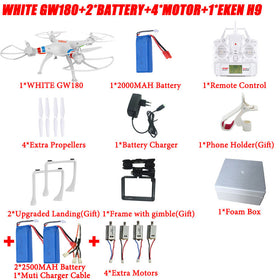 Professional Drone GW180 Quadcopter RC Helicopter Height Hold Mode With 4k/1080P Wifi HD Camera - Merimobiles