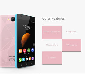 "Oukitel C3 3G WCDMA 5.0"" 1280x720 Android 6.0 MT6580 Quad Core 1.3GHz 5.0MP 1G RAM 8G ROM"