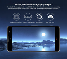 ZTE Nubia Z7 Max Qualcomm Snapdragon 801 Quad Core 5.5 Inch FHD Screen 2G+32G Android 5.1 4G LTE *EUROLINE AVAILABLE* - Merimobiles
