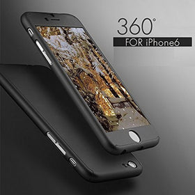 Luxury 360 Degree Full Body Protection Cover Case For iPhone 6 6s 7 Plus With Tempered Glass For i6 i6s i7 Plus