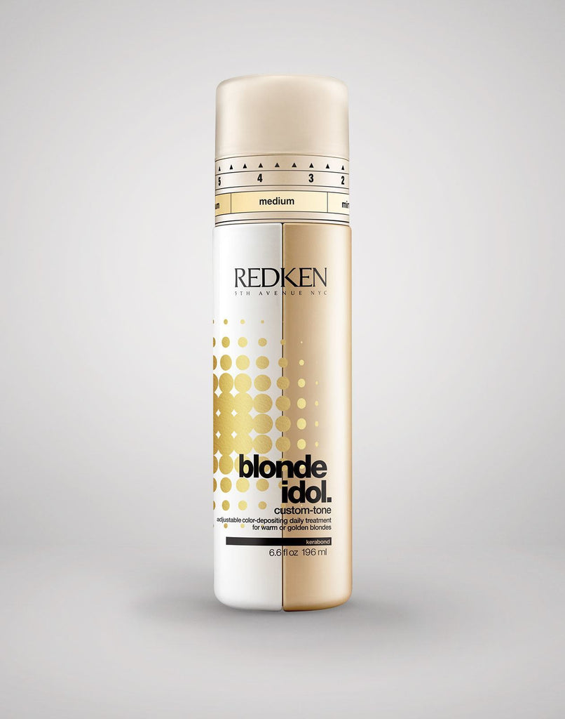 Blonde Idol Custom Tone Redken Conditioner Gold for Warm Blonde