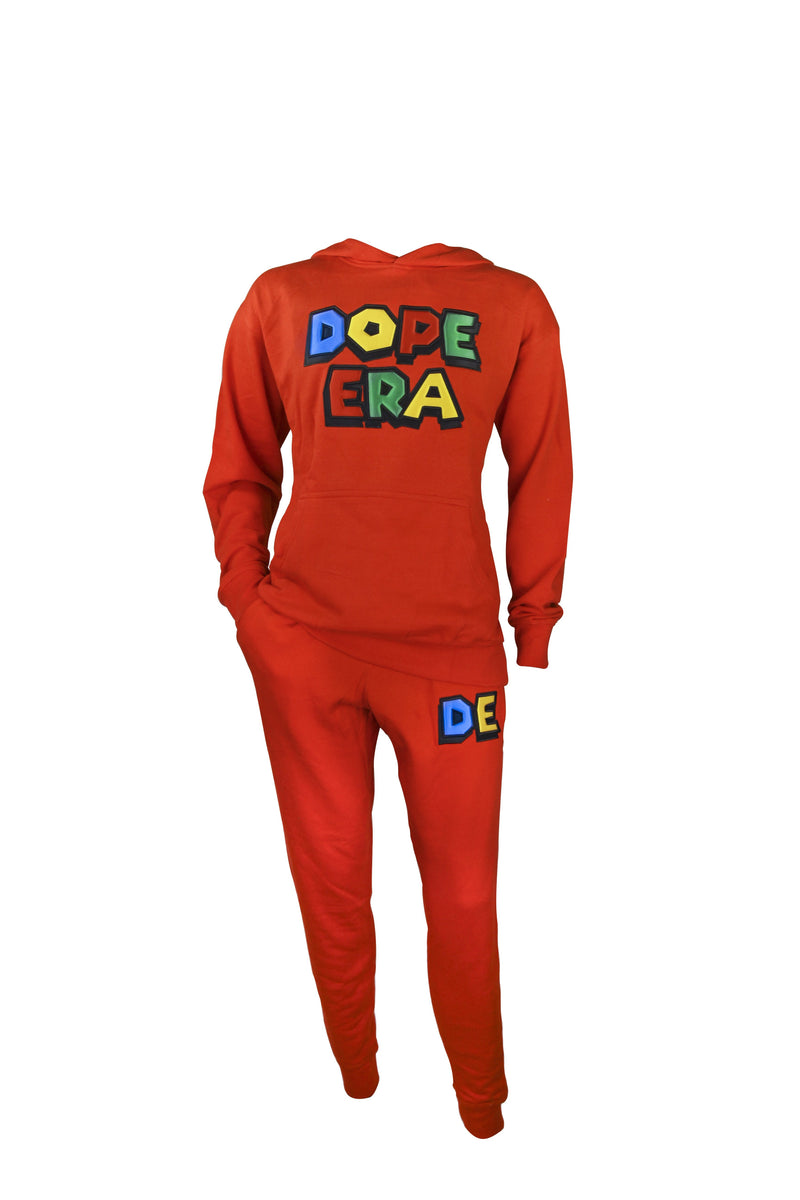 Dope Era Sweat Suit Red / SM / SweatSuit DE Super M Sweat Suit