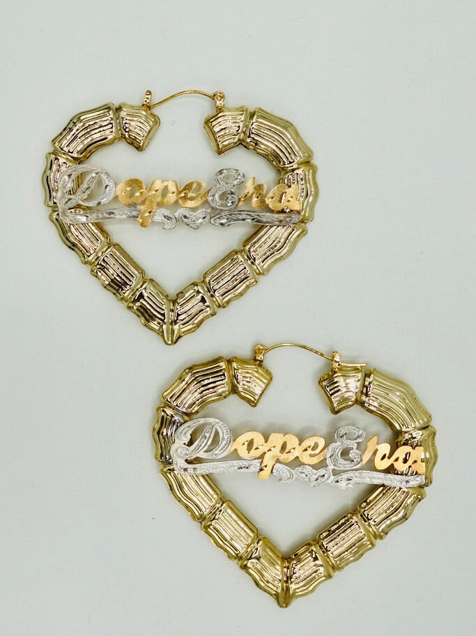 D. Era Heart Stomping Bamboo Earrings
