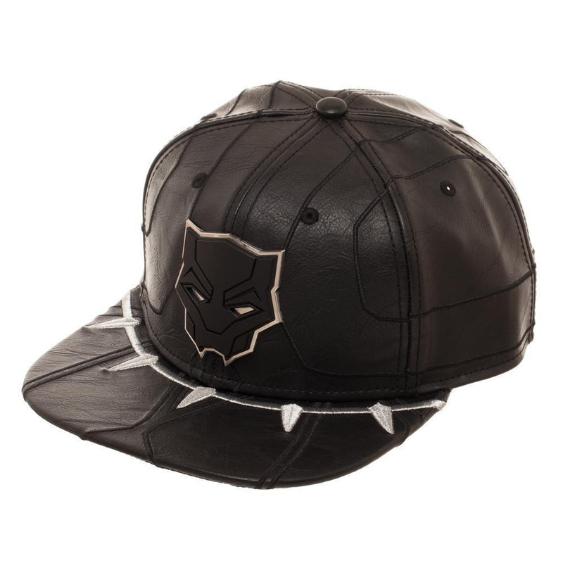 Marvel Comics SNAPBACK HATS Black Panther Leather Snapback