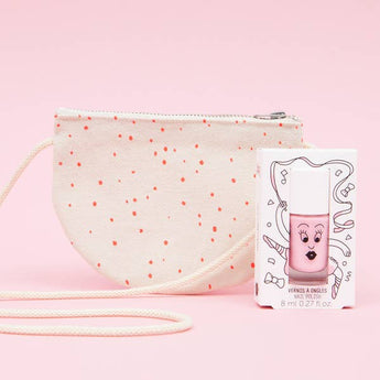 nailmatic // Pipoca Half-Moon Bag & Pink Nail Polish - Nailmatic