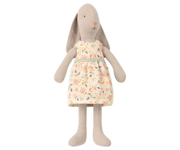 Maileg // Maileg - Bunny Size 1, Flower Dress - All The Little Bows
