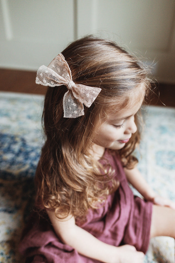 "All The Little Bows // ""Lottie"" Vintage Lace Bow - All The Little Bows"