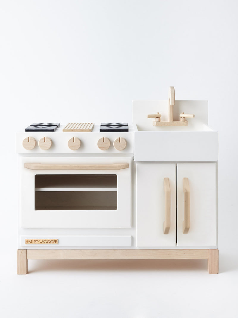 Milton and Goose // Essential Play Kitchen | White - All The Little Bows