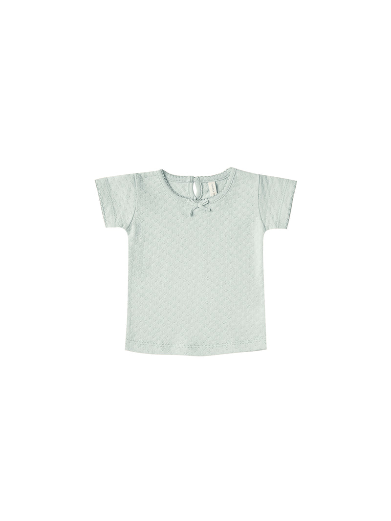 Quincy Mae // pointelle tee // sea glass - All The Little Bows