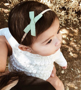 "All The Little Bows // Petite Ribbon Bow // ""Seafoam"" Headband - All The Little Bows"