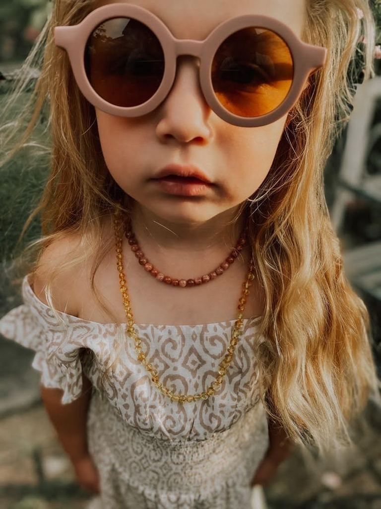 Grech & Co // Sustainable Kids Sunglasses // Burlwood - All The Little Bows