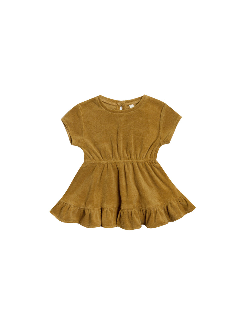 Quincy Mae // terry dress // ocre - All The Little Bows