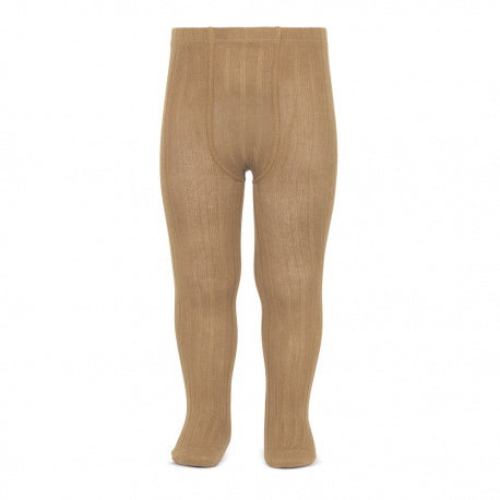 Condor // Classic Ribbed Tights // Camel - Cóndor 326 - All The Little Bows