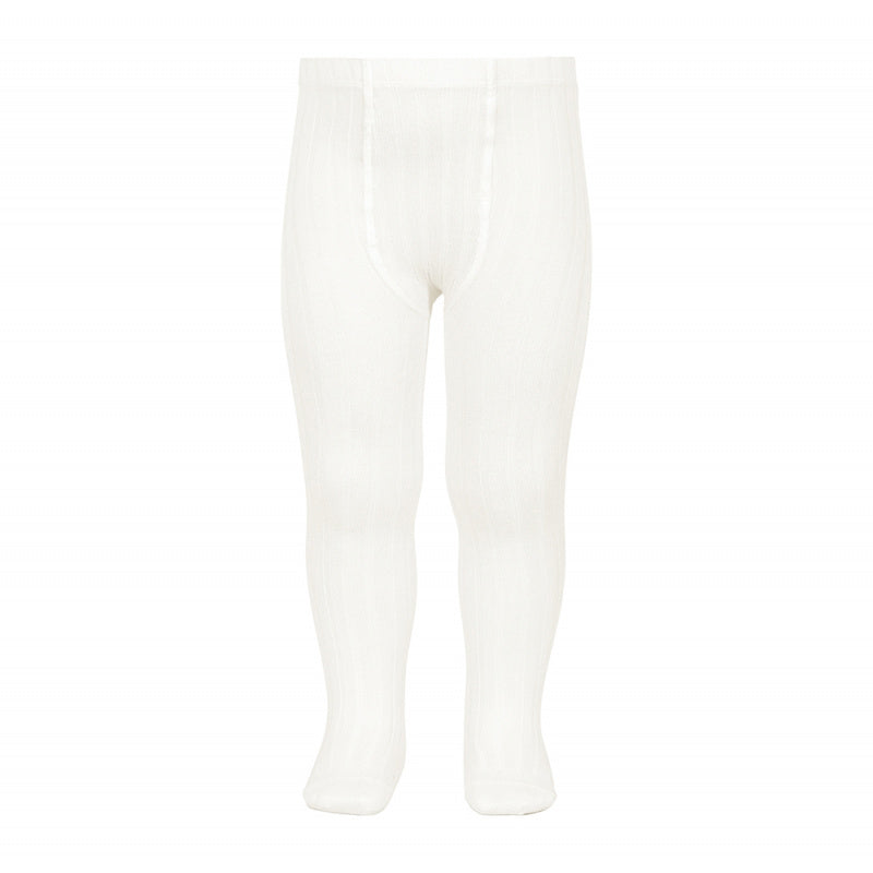 Condor // Classic Ribbed Tights // Soft White - Cóndor 202 - All The Little Bows