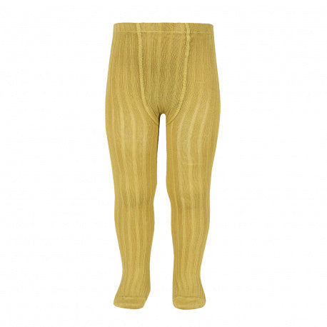 Condor // Classic Ribbed Tights // Mustard - Cóndor 629 - All The Little Bows