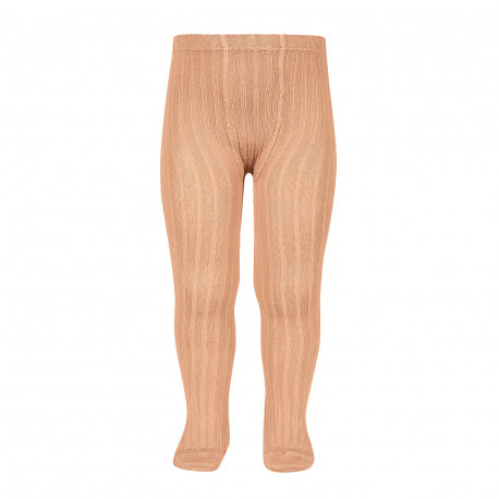 Condor // Classic Ribbed Tights // Apricot - Cóndor 623 - All The Little Bows