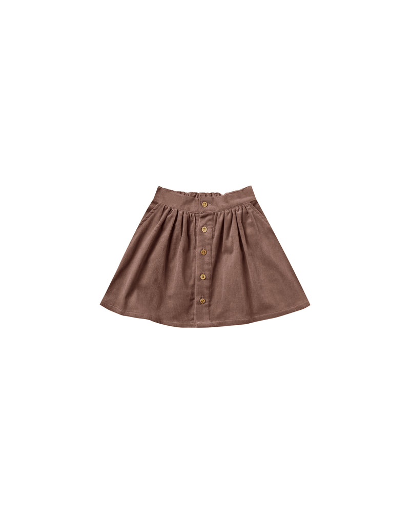 Rylee + Cru // button front mini skirt | wine - All The Little Bows