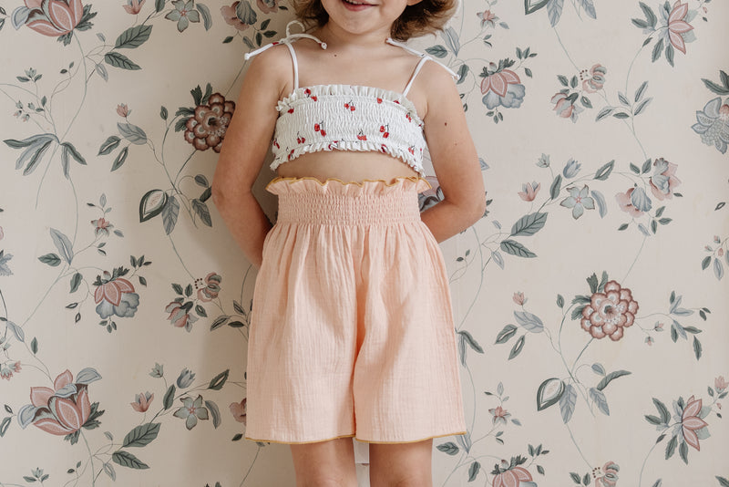 All The Little Bows // smocked culotte | peach - All The Little Bows