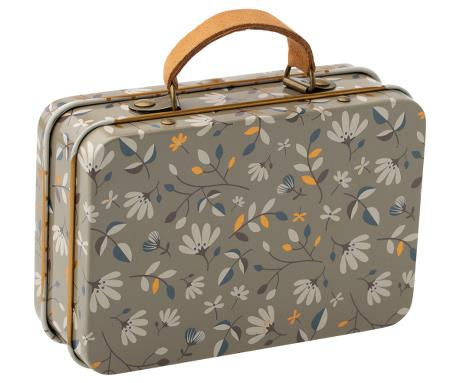 Maileg // Maileg - Metal Suitcase, Dark Merle - All The Little Bows