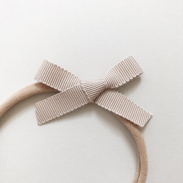 "All The Little Bows // Petite Ribbon Bow // ""Pearl"" Headband - All The Little Bows"