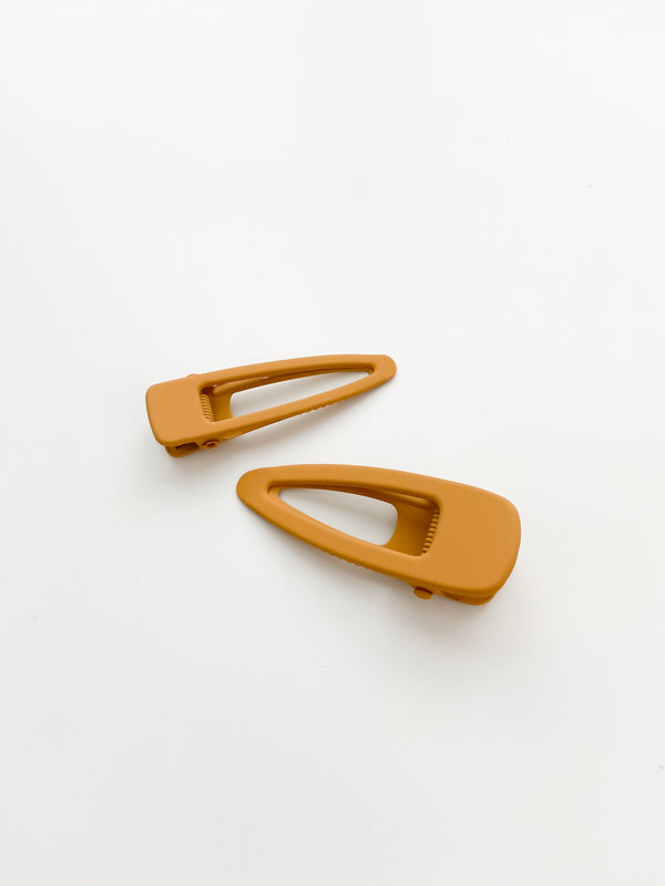 Grech & Co // Matte Clips, Set of Two // Golden - All The Little Bows