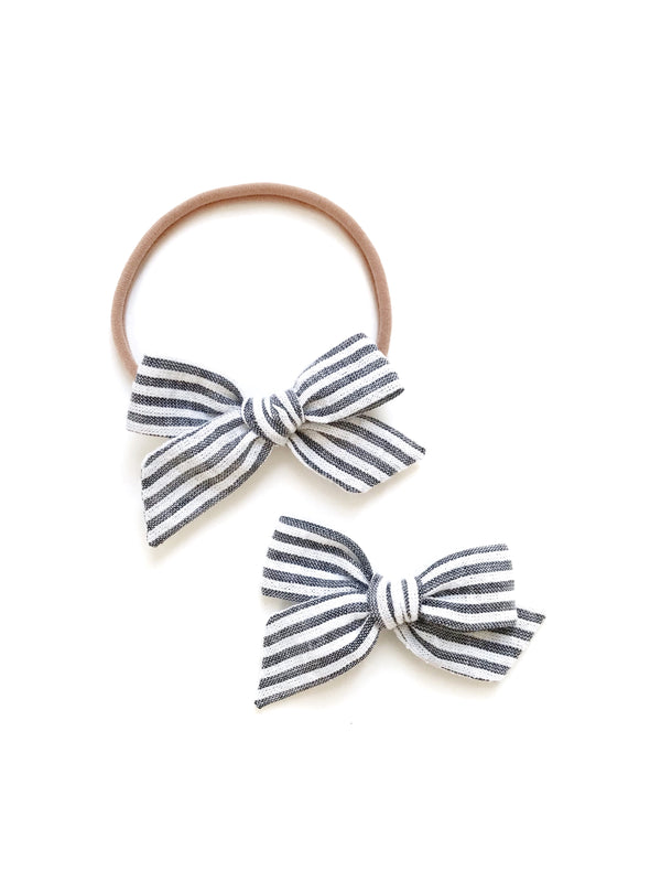 "All The Little Bows // Classic Knot // ""Cape Cod"" - Headband, Clip, or Pigtail Set - All The Little Bows"