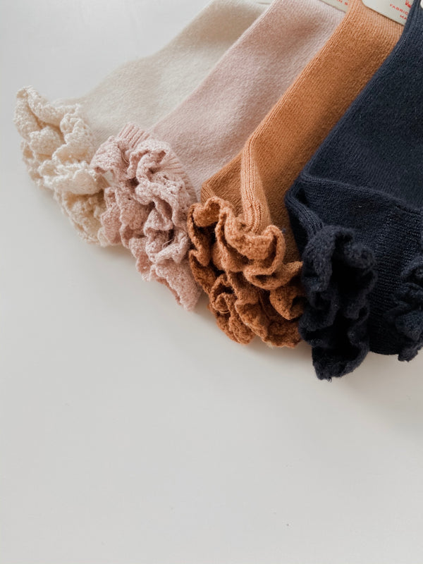 Condor // Lace Ruffle Knee Socks // Navy - All The Little Bows
