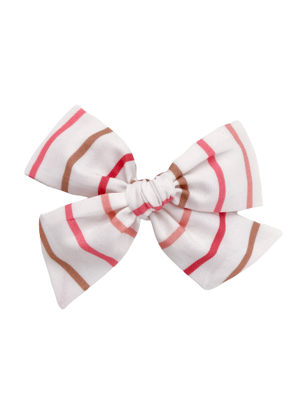 All The Little Bows // Pinwheel Bow | Multi-Stripe (Pink/Brown) - All The Little Bows