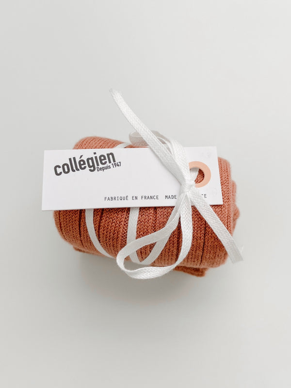 Collégien // Collegien Ribbed Knee Socks in Bois de Rose - All The Little Bows