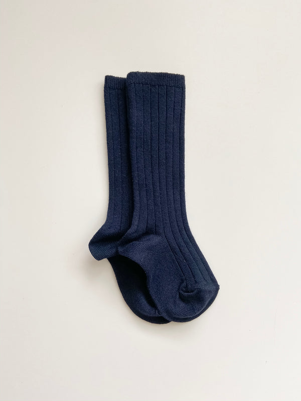 Condor // Ribbed Knee Socks | Navy - All The Little Bows